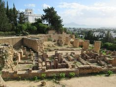 The foundations of century BC shops and houses can be seen in the Hannibal district adjoining the Carthage National Museum near Tunis, Tunisia. Carthage, National Museum, Shops, Houses, Ancient Art, History, Architecture, Homes, Tents