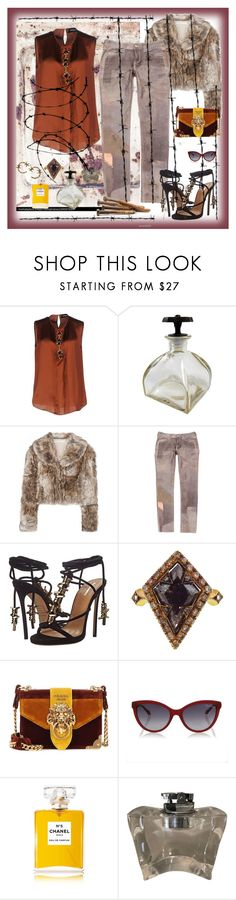 """""""Barbwire"""" by billiej-712 ❤ liked on Polyvore featuring Dsquared2, STELLA McCARTNEY, Isabel Marant, Cathy Waterman, Prada, Roberto Cavalli and Chanel"""