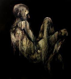 "Kacper Piskorowski ""Bottom"", oil on board, 100 - 100 cm, 2016"