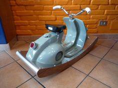 Rocking italian scooter deluxe by TheatronItalianArt on Etsy