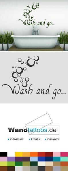 Wandtattoo Wash And Go... Als Idee Zur Individuellen Wandgestaltung.  Einfach Lieblingsfarbe Und