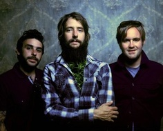 Band of Horses (on a side note- my mom wrote insurance for the drummer... he's on the far left. i was in shock when i overheard him say what band he played in)