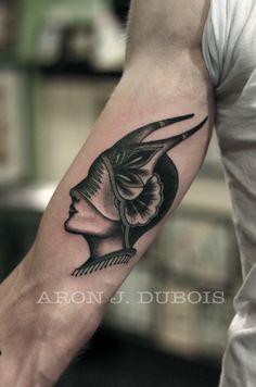 Aron J Dubois, of Scapegoat tattoo .... interpretation of a wonderful Amund Dietzel design. I love this
