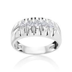 SummerRose 14k Gold 3/4ct Diamond Mens Ring