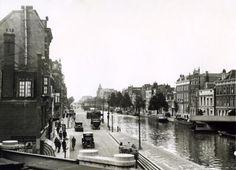 Uitzicht over De Schie, Rotterdam (Nederland). 26 augustus 1932.