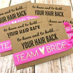 Bachelorette Party Favors Hair Tie Favor by ElasticHairBandz