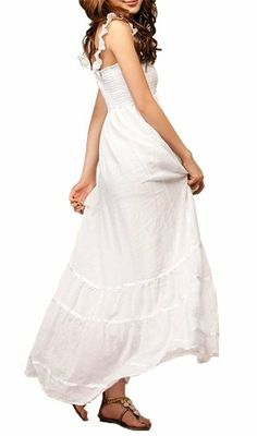 Gamiss Women's Casual Wear Lace Flouncing Bohemian Style Long Maxi Sundress Beach Dress, White,Regular Sizing 4 Gamiss,http://www.amazon.com/dp/B00BUKL1IY/ref=cm_sw_r_pi_dp_xoN4sb1754Z1E0NB