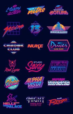 Find tips and tricks, amazing ideas for Retro logos. Discover and try out new things about Retro logos site Blog Logo, Lettering, Typography Design, Typography Logo, Font Logo Design, Logo Desing, Logo Design Trends, 80s Logo, Inspiration Logo Design