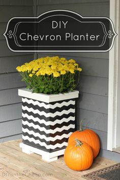 DIY Chevron Planter