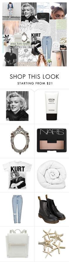 """bring all your sweet love home [tag]"" by roxymarie ❤ liked on Polyvore featuring Chanel, Stila, NARS Cosmetics, Brinkhaus, Topshop, Dr. Martens, CO, Clips, gottatagrandomn3ss and meanttobetagged"