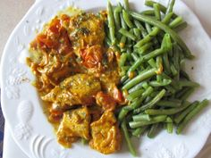 My kitchen simply – Nourishment Small Tomatoes, Lime Wedge, Curry Paste, How To Squeeze Lemons, Curry Powder, The Dish, Tandoori Chicken, Poultry, Green Beans