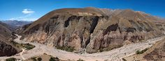 Colorful Mountain Range along famous Road 'Ruta 13' in Northern Argentina