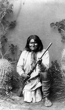 "Geronimo: Chiricahua Apache(Chiricahua: ""one who yawns); Geronimo defended his people against the encroachment of the US on their tribal lands for over 25 years. While Geronimo said he was never actually a chief, he was a military leader. As a Chiricahua Apache, this also meant he was also a spiritual leader."