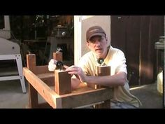Here's a basic workbench made with a few 2x4s and a sheet of plywood. It is very strong and can be customized in any number of ways.    ----------------    Woodworking For Mere Mortals. Easy woodworking projects every Friday.    Subscribe to WWMM and never miss a video!  http://www.youtube.com/subscription_center?add_user=stevinmarin    Website: http://w...