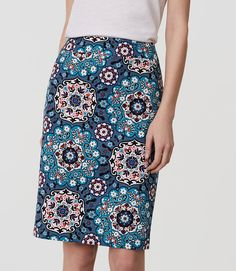 Thumbnail Image of Color Swatch 4899 Image of Floral Medallion Pencil Skirt