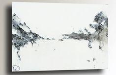 Black & white textured painting, Heather Day. https://www.etsy.com/listing/260499889/black-white-painting-original-sculptured