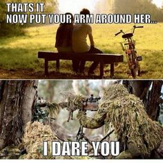 11 sniper memes that will make you laugh for hours - Americas Military Entertainment Brand Military Jokes, Army Humor, Army Memes, Dad Humor, Military Brat, Really Funny Memes, Funny Relatable Memes, Funny Jokes, Funny Stuff