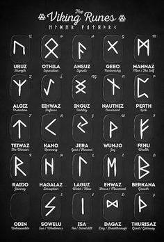Viking Tattoos Discover Viking Runes Canvas Print by innasoyturk Viking Runes Elder Futhark Alphabet Millions of unique designs by independent artists. Find your thing. Rune Symbols, Alphabet Symbols, Magic Symbols, Norse Runes Meanings, Nordic Symbols, Norse Alphabet, Viking Symbols And Meanings, Glyphs Symbols, Protection Symbols