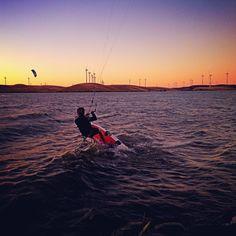 Kiteboarding at Sherman Island