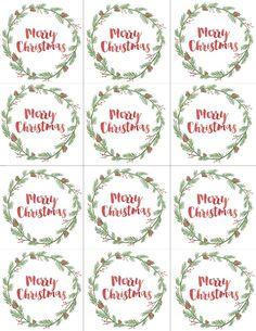 FREE printable Merry Christmas Gift Tags
