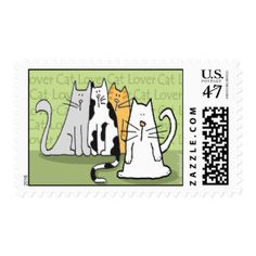 Cat Lover Stamps