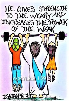 """""""He gives strength to the weary and increases the power of the weak."""" Isaiah (Scripture doodle of encouragement/Bible journaling) Scripture Doodle, Scripture Verses, Bible Art, Bible Verses Quotes, Words Of Encouragement, Bible Scriptures, Daily Scripture, Biblical Quotes, Prayer Quotes"""