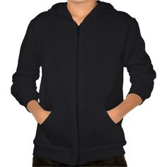 Kid's American Apparel Fleece Hoodie (black) is comfy & stylish. Will be great for back-to-school!