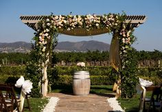Outdoor Ceremony Arch // John & Joseph Photography // Planner: Details Details // Location: Ponte Winery