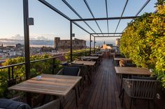 La Isabela Terrace restaurant on Las Ramblas, Barcelona