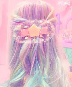 Pastel Hair Colors That Soften and Brighten Your Looks - new trend hairstyle Kawaii Hairstyles, Pretty Hairstyles, Wig Hairstyles, Pastel Goth Fashion, Kawaii Fashion, Kawaii Wigs, Pelo Multicolor, Kawaii Accessories, Hair Reference
