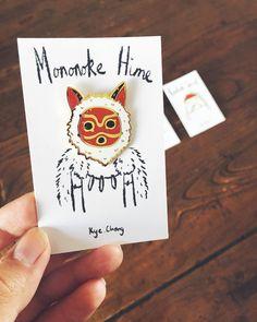 Princess Mononoke Pin by KyeCheng on Etsy https://www.etsy.com/transaction/1307849845