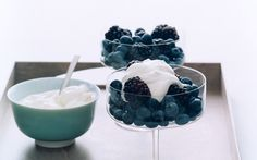 Berries with Geranium Cream: 2000s Recipes + Menus : gourmet.com