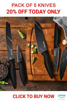 Chef's Ultimate Choice: Sharpze's Premium kitchen Knives set is made of high-quality stainless steel that resists rust and corrosion. Ideal for chopping, slicing, dicing, and mincing all kinds of meat, vegetables, fruits, and bread . . . . #kitchenknives #knifesets #kitchenknifesets #kitchenknifeset #knivesset Cool Kitchen Gadgets, Cool Kitchens, Ikea Laundry Basket, Purple Night Lights, Curtain Tie Backs Diy, Tea Sets For Sale, Cool Gadgets On Amazon, Underwater Metal Detector, Toothbrush Storage