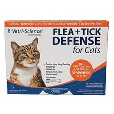 VetriScience FleaTick Defense for Cats 3 Pack -- You can get more details by clicking on the image.(This is an Amazon affiliate link)