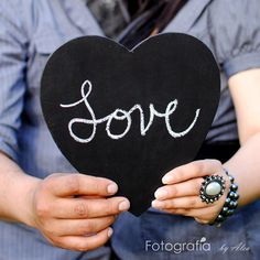 Large Chalkboard Heart Sign- Photo Booth Prop- Ready to Ship. $8.00, via Etsy.