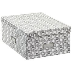 The Container Store > Milano Graphic Shirt Box  11 x 15 x 6 1/2 h