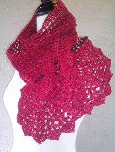 Blossomy Scarf Crochet PATTERN / PDF by mblohm on Etsy