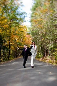 Romantic Catskills Wedding as seen on @offbeatbride #gay #lgbt #wedding