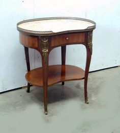 French Marble Top Night Stand Louis XV #LouisXIIIXIVXVXVI