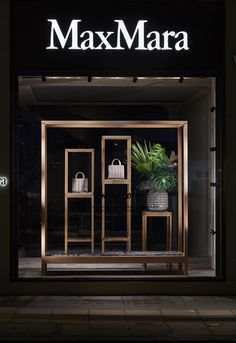 Shoe Store Design, Clothing Store Design, Fashion Retail Interior, Optometry, Store Windows, Bond Street, Max Mara, Visual Merchandising, Wood Wall