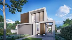 We're excited to announce that our new Brighton contemporary display home in Melbourne is open. New Brighton, Architecture Visualization, Display Homes, House Design, Melbourne Australia, Contemporary, Mansions, Luxury, House Styles