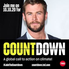 Action Movie Stars, Action Movies, Call To Action, Chris Hemsworth, Climate Change, Ted, Celebs, Actors, Photo And Video