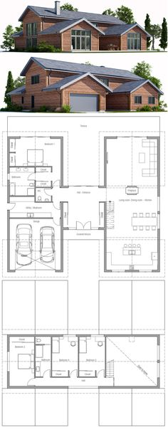 Container Homes Plans - Plan de Maison Who Else Wants Simple Step-By-Step Plans To Design And Build A Container Home From Scratch? Modern House Plans, Small House Plans, Modern House Design, House Floor Plans, Building A Container Home, Container House Plans, Container Homes, Small Modern Home, Sims House