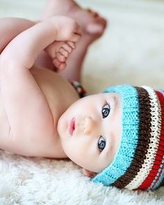 Love this photo!!! The cute hat is by Yarning2BMe on Etsy