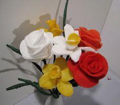 Pomysły plastyczne dla każdego DiY - Joanna Wajdenfeld: Kwiatki z płatków