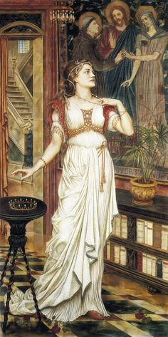 The Crown of Glory by Evelyn de Morgan (1850-1919) - oil on canvas, 1896