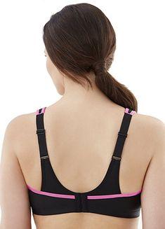 Glamorise Sports Bra No Bounce-Cami Style 1066 NWT BLACK