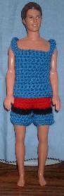 Crochet shorts and tank top
