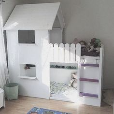 51 Cool Ikea Kura Beds Ideas For Your Kids Rooms. The Ikea beds are elegant furniture among the many product lines found at the Ikea stores in different countries. Cozy Bedroom, Kids Bedroom, Bedroom Decor, Kids Rooms, Room Kids, Murphy Bed Ikea, Murphy Bed Plans, Cama Ikea Kura, Ikea Loft