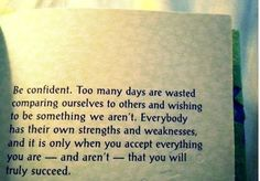 be confident. words-of-wisdom
